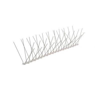 Ακίδες απώθησης περιστεριών πλαστικές με καρφιά INOX 50cm